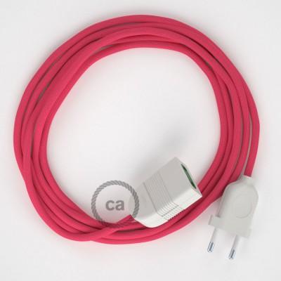 Produžni kabel za napajanje (2P 10A) Fuksija Rajon RM08 - Made in Italy