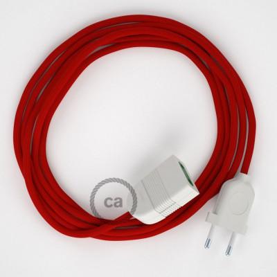Produžni kabel za napajanje (2P 10A) Crveni Rajon RM09 - Made in Italy