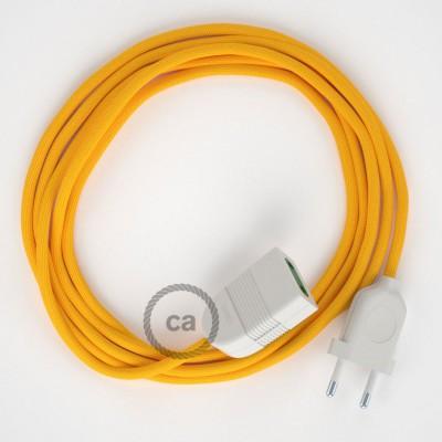 Produžni kabel za napajanje (2P 10A) Žuti Rajon RM10 - Made in Italy