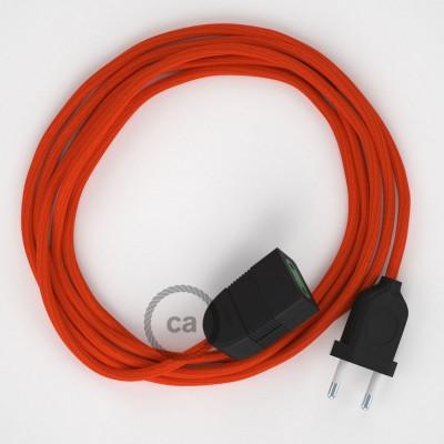 Produžni kabel za napajanje (2P 10A) Narančasti Rajon RM15 - Made in Italy