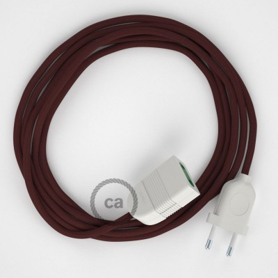 Produžni kabel za napajanje (2P 10A) Bordo Rajon RM19 - Made in Italy