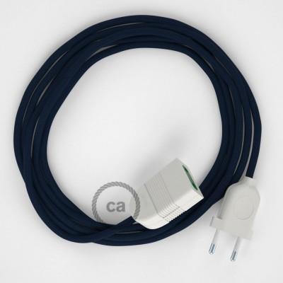 Produžni kabel za napajanje (2P 10A) Tamno Plavi Rajon RM20 - Made in Italy