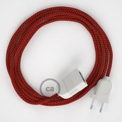 Produžni kabel za napajanje (2P 10A) Crveni Vrag Rajon RT94 - Made in Italy