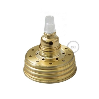 Zlatni Mason Jar komplet za viseću lampu s konusnim produživačem i E14 mesing metalnim grlom za žarulju