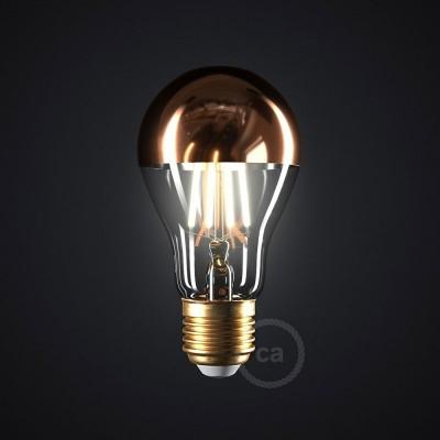 """Bakrena """"half sphere"""" Drop A60 LED žarulja 7W E27 2700K Dimabilna ( s prigušivanjem svjetla )"""