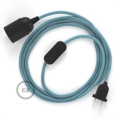 SnakeBis komplet za svjetiljku s tekstilnim kabelom - Svjetlo Plavi Pamuk RC53