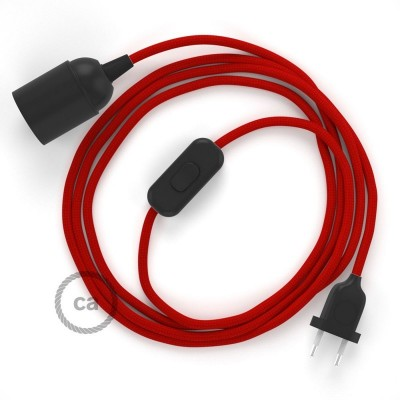 SnakeBis komplet za svjetiljku s tekstilnim kabelom - Crveni Rajon RM09