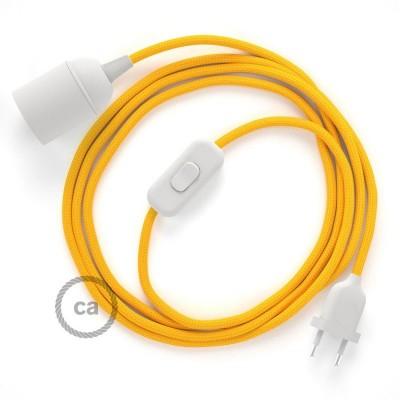 SnakeBis komplet za svjetiljku s tekstilnim kabelom - Žuti Rajon RM10