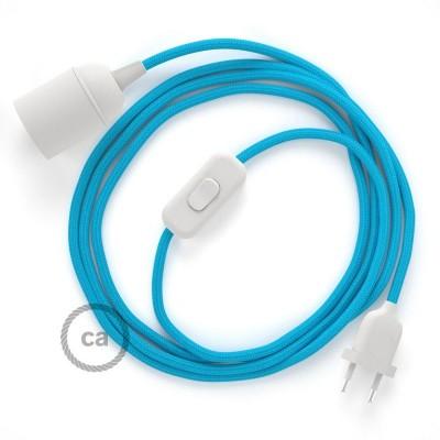 SnakeBis komplet za svjetiljku s tekstilnim kabelom - Tirkizni Rajon RM11