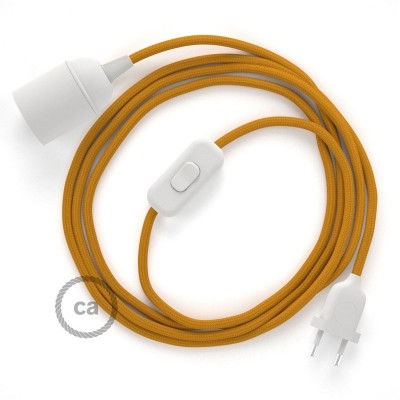 SnakeBis komplet za svjetiljku s tekstilnim kabelom - Senf Žuti Rajon RM25