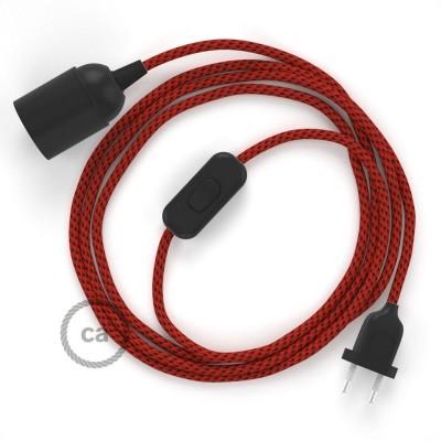 SnakeBis komplet za svjetiljku s tekstilnim kabelom - Crveni Vrag Rajon RT94