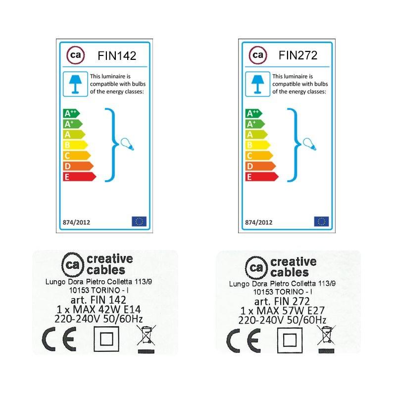SnakeBis komplet za svjetiljku s tekstilnim kabelom - Cik-Cak Crveni Rajon RZ09