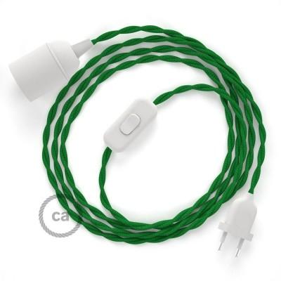 SnakeBis komplet za svjetiljku s tekstilnim kabelom - Zeleni Rajon TM06