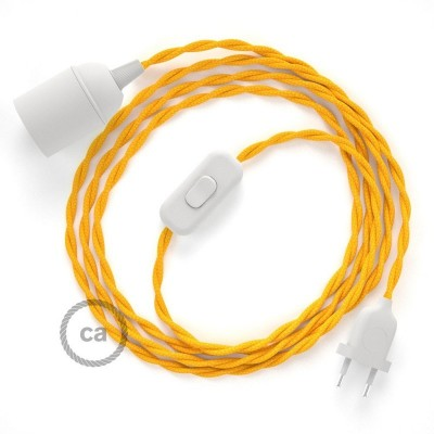 SnakeBis komplet za svjetiljku s tekstilnim kabelom - Žuta Rajon TM10