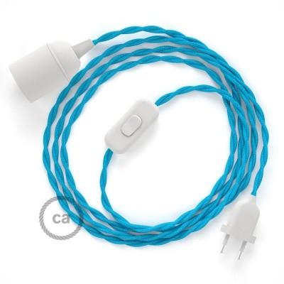 SnakeBis komplet za svjetiljku s tekstilnim kabelom - Tirkizni Rajon TM11