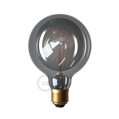 LED Smoky Žarulja - Globe G95 dupla spiralna žarna nit - 5W E27 Dimabilna ( s prigušivanjem svjetla ) 2000K