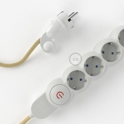 Razdjelnik s električnim tekstilnim kabelom Juta RN06 i s udobnim šuko utikačem