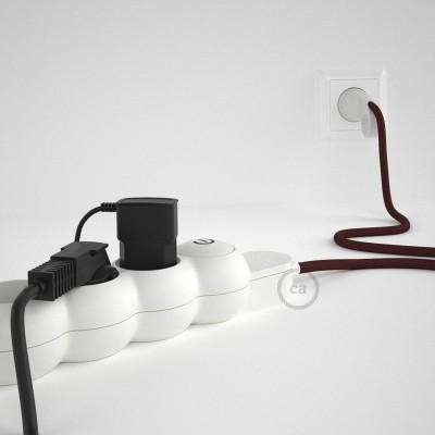Razdjelnik s električnim tekstilnim kabelom Bordo RM19 i s udobnim šuko utikačem