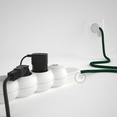 Razdjelnik s električnim tekstilnim kabelom Tamno Zeleni RM21 i s udobnim šuko utikačem