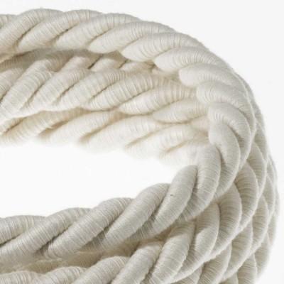 Električno uže XL, kabel 3x0,75 prekriven s tekstilom i pamukom. Promjer: 16 mm.