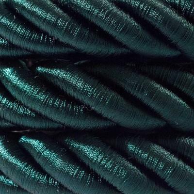 Električno uže 2XL, kabel 3x0,75 prekriven tamno zelenim sjajnim tekstilom. Promjer: 24mm.