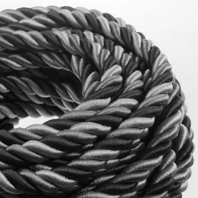 Električno uže XL, kabel 3x0,75 prekriven sjajnim tekstilom Orleans. Promjer: 24mm.