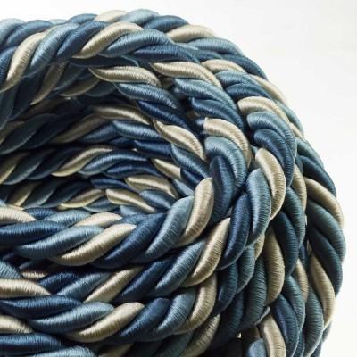 Električno uže XL, kabel 3x0,75 prekriven sjajnim tekstilom Bernadotte. Promjer: 24mm.
