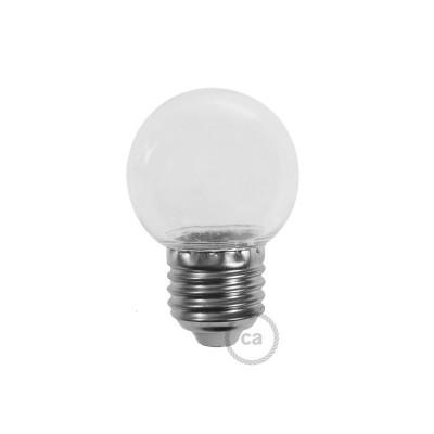 Dekorativna G45 Miniglobe LED žarulja 1W E27 2700K - Prozirna
