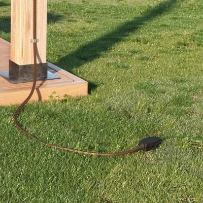 Kutija za spajanje String kablova u nizu sa adaptorima za okrugle i plosnate kablove.