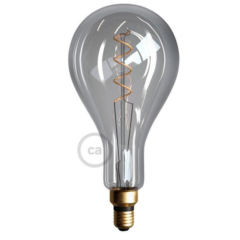 XXL LED Smoky Žarulja - Pear A165 dupla spiralna žarna nit - 5W E27 Dimabilna ( s prigušivanjem svjetla ) 2000K