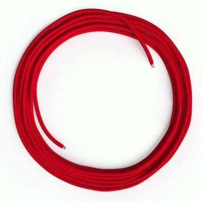 LAN Ethernet kabel Cat 5e bez RJ45 utikača - obloženi rayon platnom RM09 Crveni