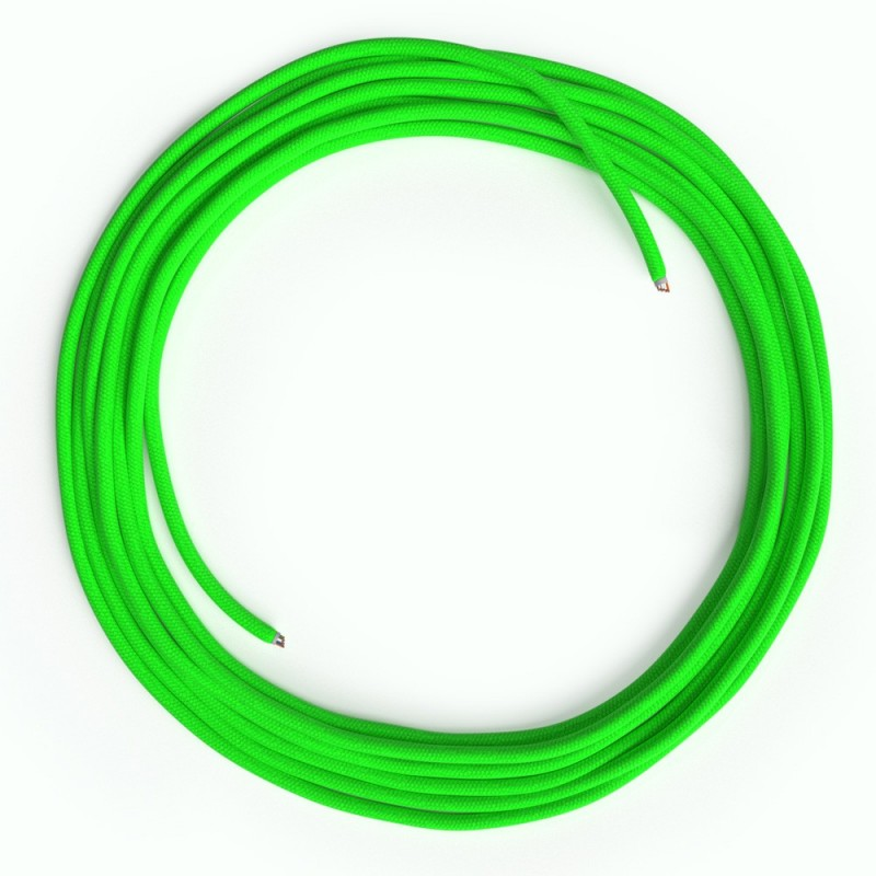 LAN Ethernet kabel Cat 5e bez RJ45 utikača - obloženi rayon platnom RF06 Neon zeleni