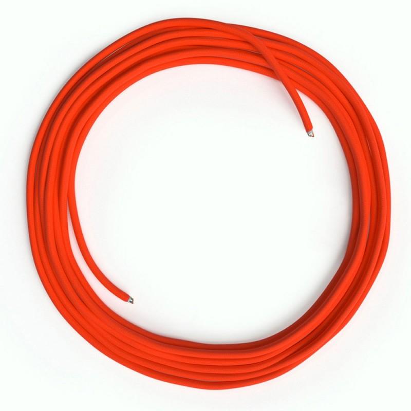 LAN Ethernet kabel Cat 5e bez RJ45 utikača - obloženi rayon platnom RF15 Neon narančasti