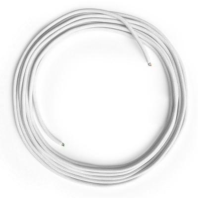LAN Ethernet kabel Cat 5e bez RJ45 utikača - obloženi pamučnim platnom RC01 bijeli