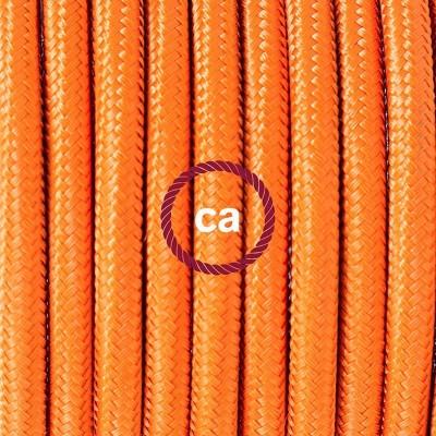 Viseća porculanska lampa, set s tekstilnim kabelom RM15 - Narančasti rajon