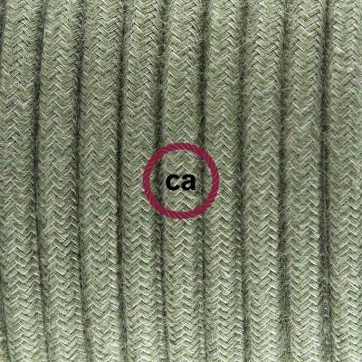 Viseća porculanska lampa, set s tekstilnim kabelom RC63 - Sivo-Zeleni Pamuk