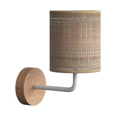 Fermaluce Maritime, drvena zidna lampa sa sjenilom i metalnim nosačem