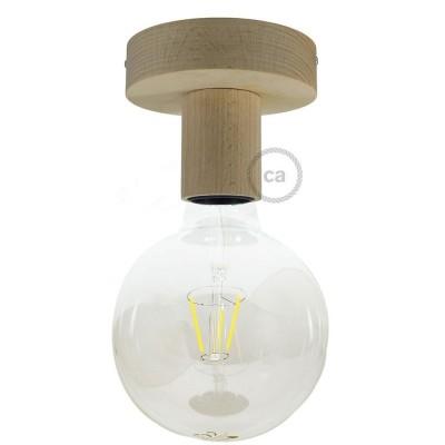 Fermaluce Natural, reflektor lampa za zid ili strop od od prirodnog drva