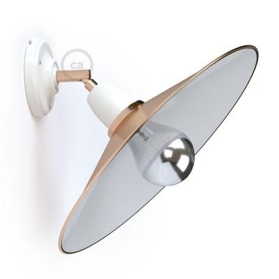 Fermaluce 90° Glam prilagodljiva porculanska reflektor lampa s metalnim sjenilom Swing
