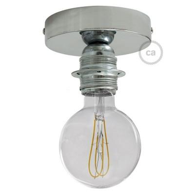Fermaluce Glam s držačem žarulje navoja E27, metalna zidna ili stropna lampa