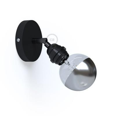 Fermaluce Metallo 90° Monochrome, podesiva zidna ili stropna lampa sa držačem žarulja navoja E27