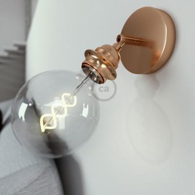 Fermaluce Metallo 90° Glam Metal, podesiva zidna ili stropna lampa sa držačem žarulja navoja E27