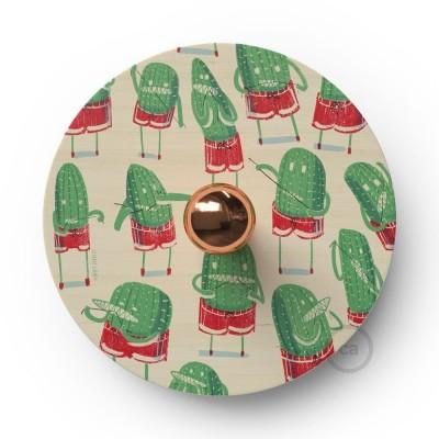 Fermaluce Funny Pop drveni UFO disk obostrano ilustriran od strane različitih umjetnika