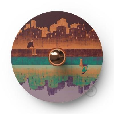 Fermaluce Romantic drveni UFO disk obostrano ilustriran od strane različitih umjetnika