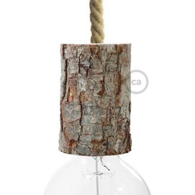Maleno grlo E27 s korom drveta s priborom