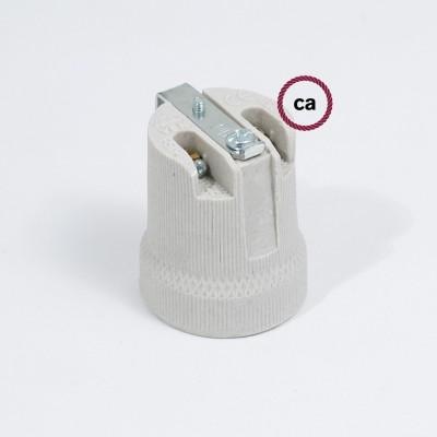 Porculansko grlo E27 za montažu