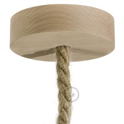 Drvena stropna rozeta za XL uže s priborom za montažu