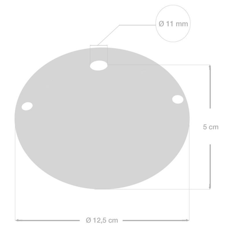 Keramička jednostavna stropna rozeta s priborom za montažu
