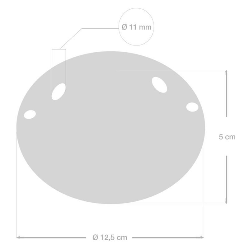 Keramička stropna rozeta s 2 rupe i priborom za montažu