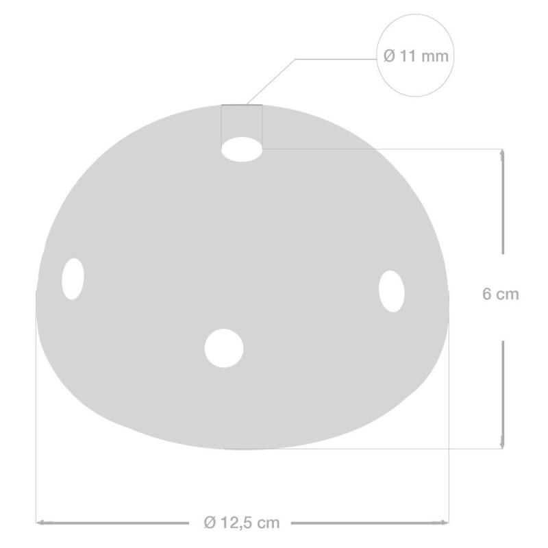 Keramička stropna rozeta sa 7 rupa i priborom za montažu